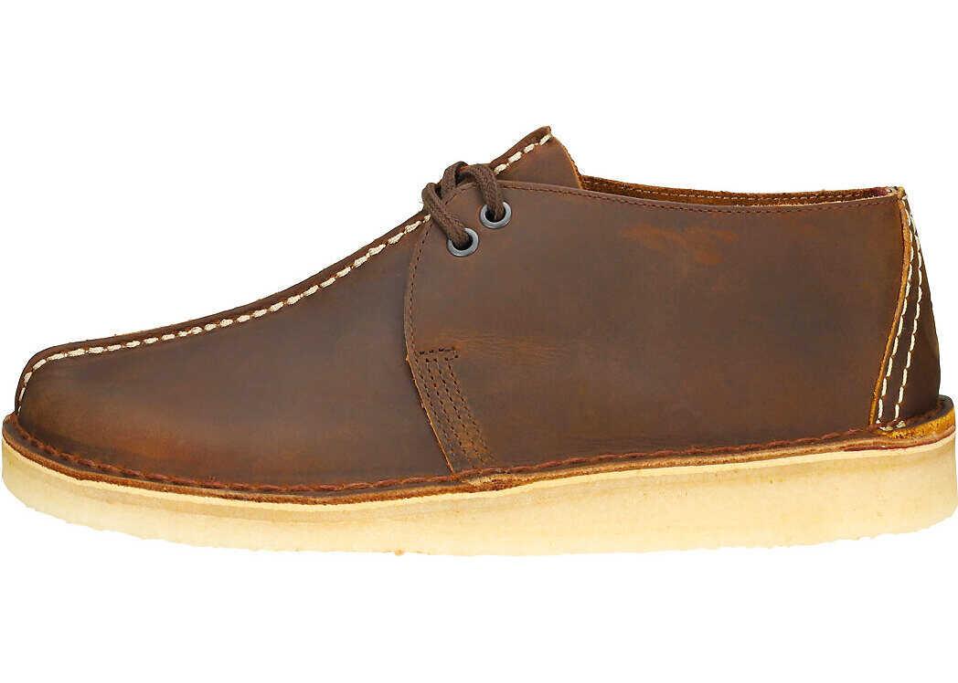 Clarks Desert Trek Shoes In Beeswax Brown