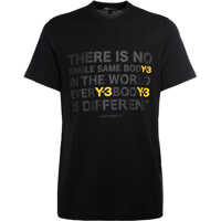Tricouri Y-3 Black And Yellow Cotton T-Shirt