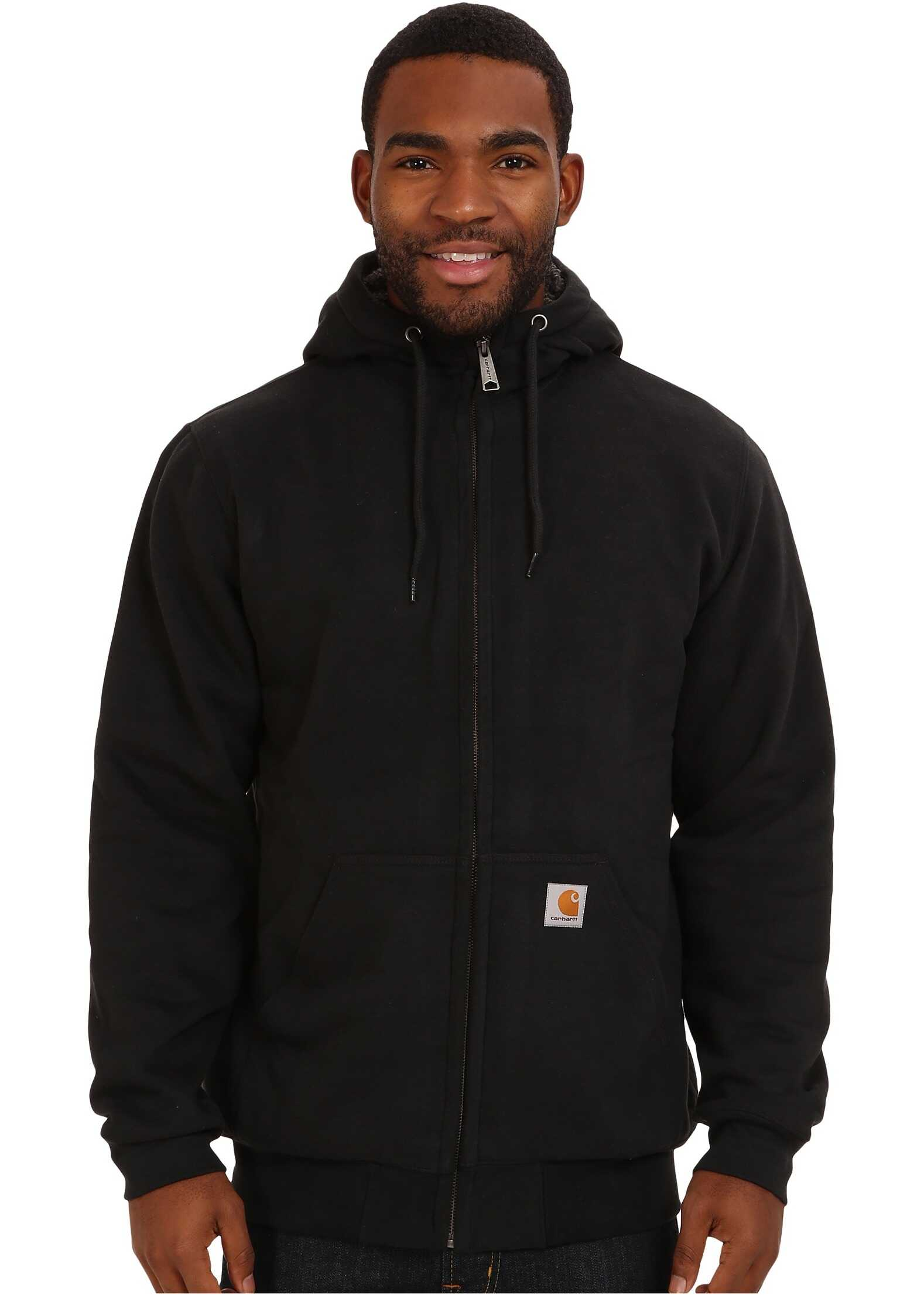 Carhartt Brushed Fleece Sweatshirt Sherpa Lined Black