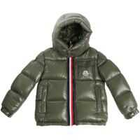 Geci de Puf Green Montbeliard Down Jacket With Logo Baieti