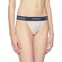 Chiloti Lace Thong with Branded Waistband Femei
