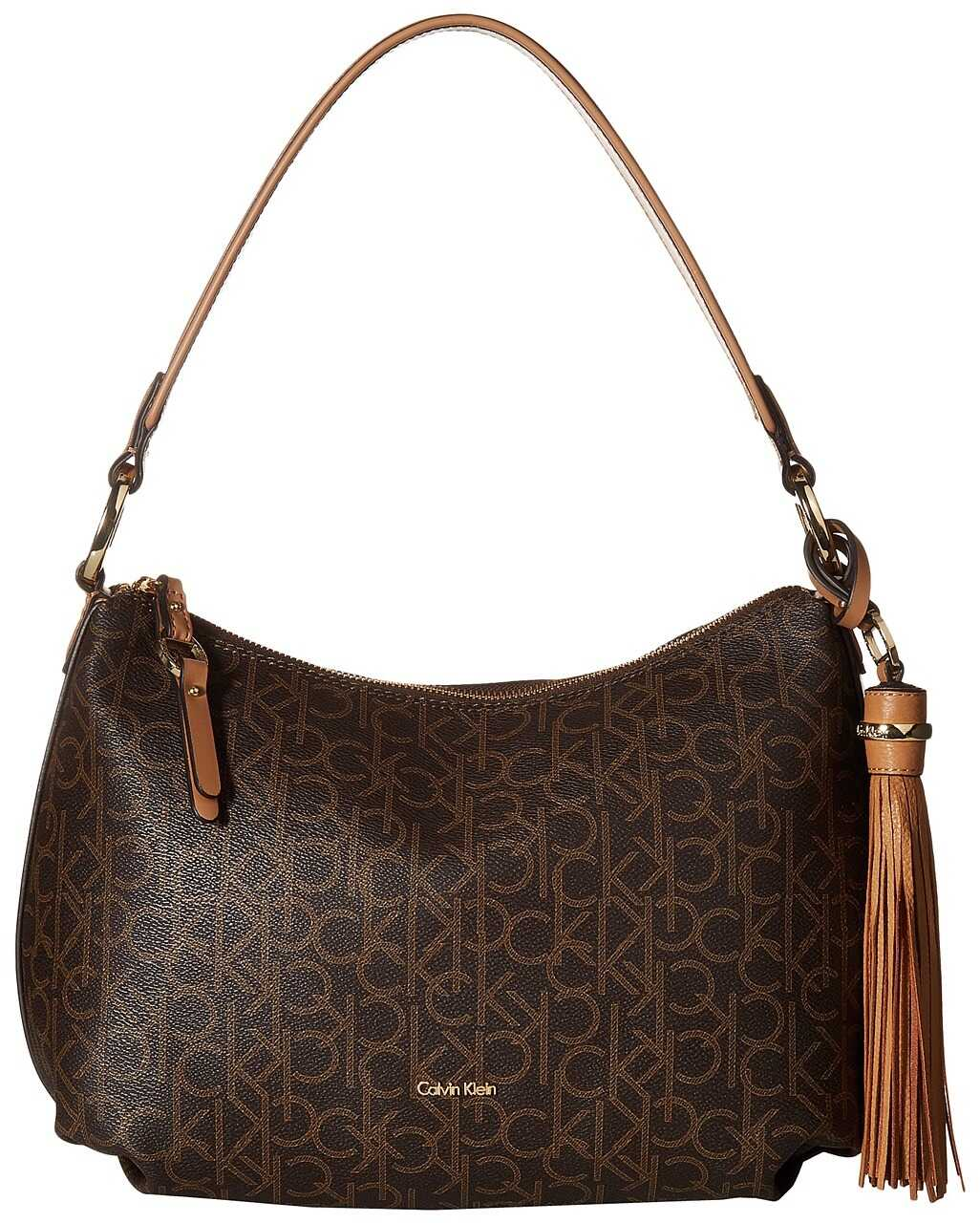 Calvin Klein Monogram Hobo Brown/Khaki