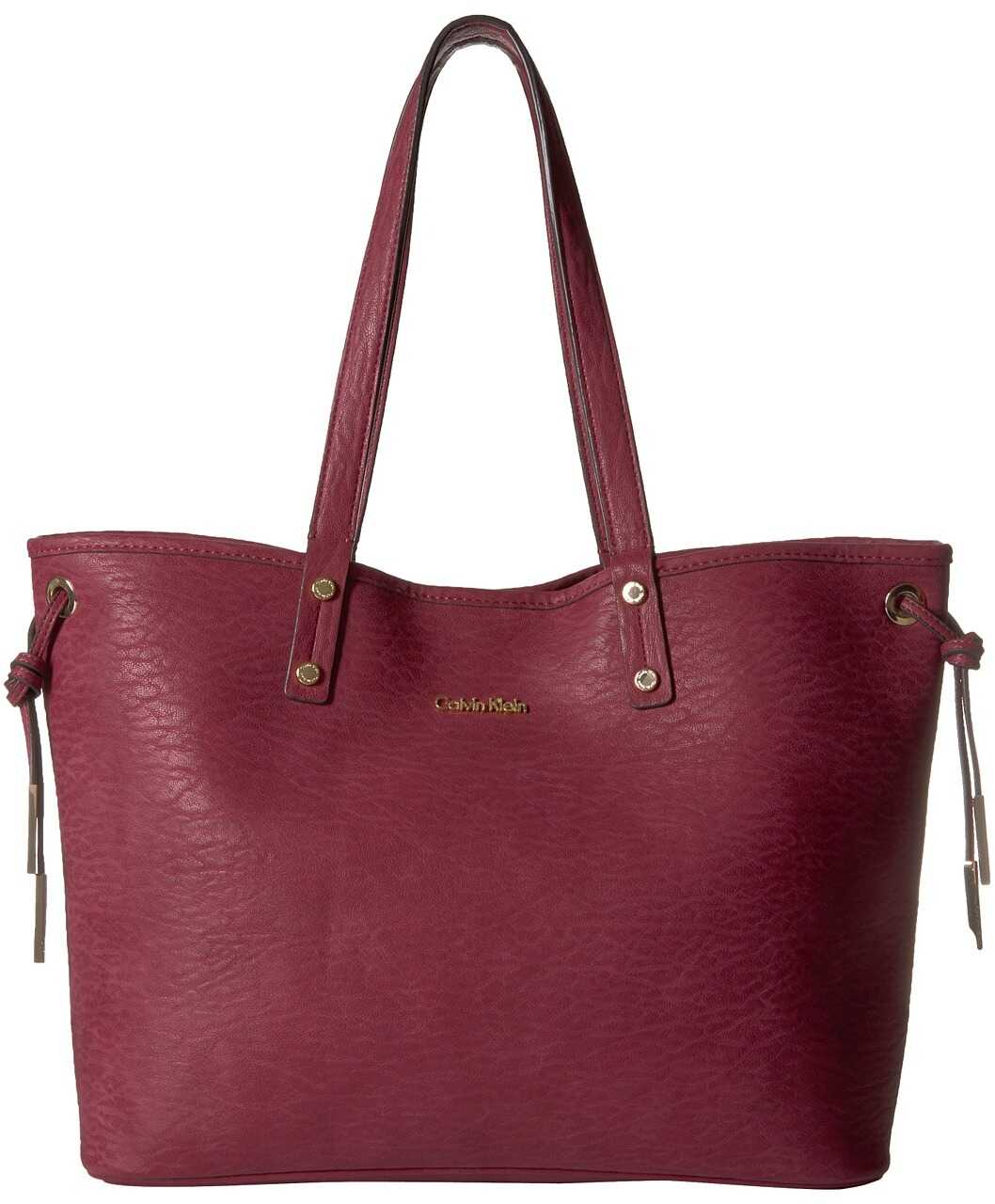 Calvin Klein Harper Unlined Tote Berry