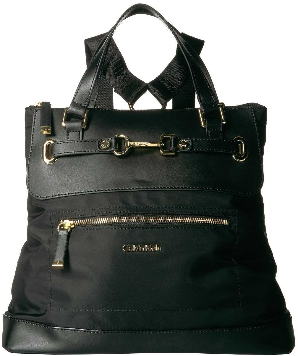 Calvin Klein Lianna Nylon Backpack Black/Gold
