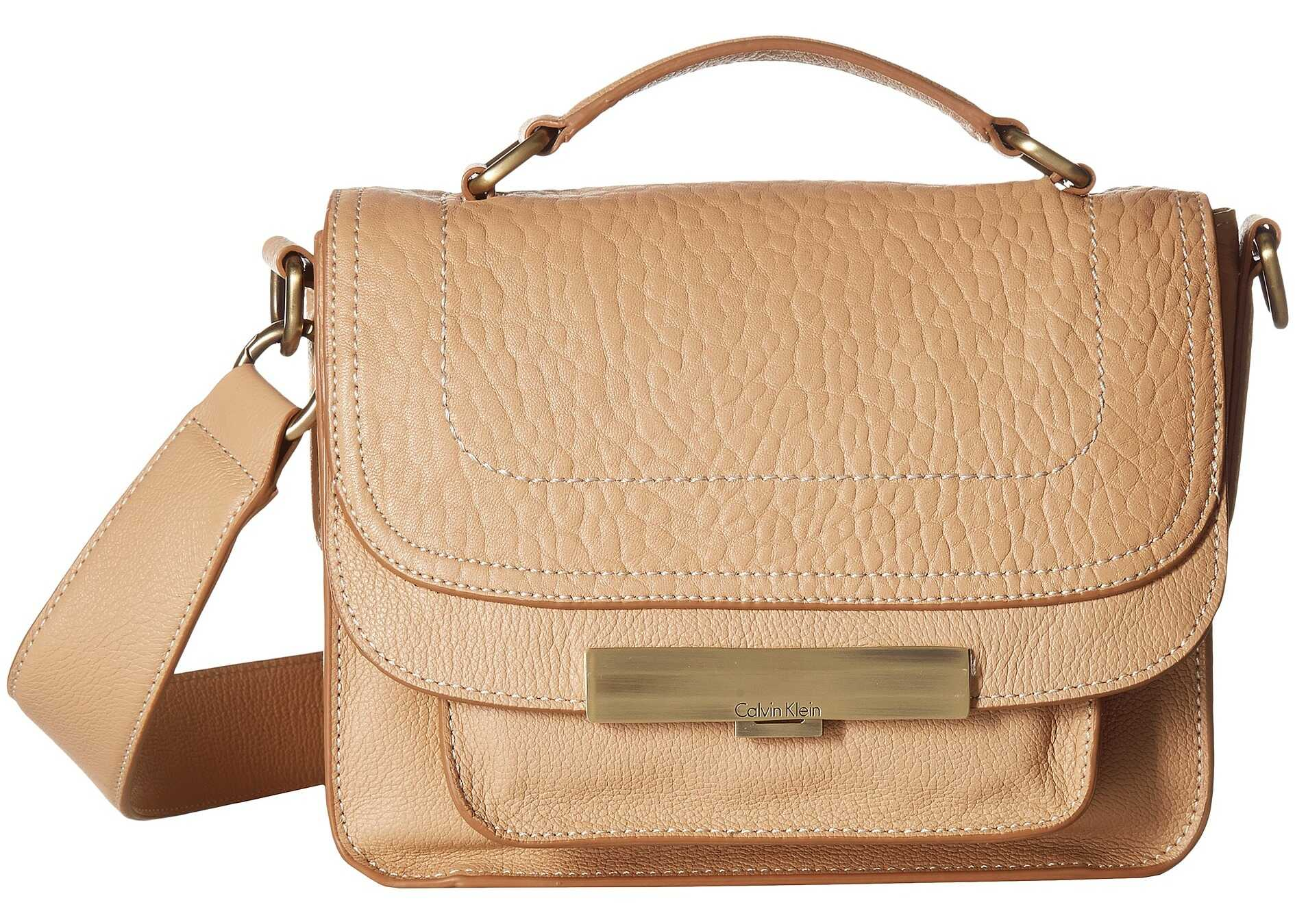 Calvin Klein Wendy Goat Leather Small Crossbody Bare
