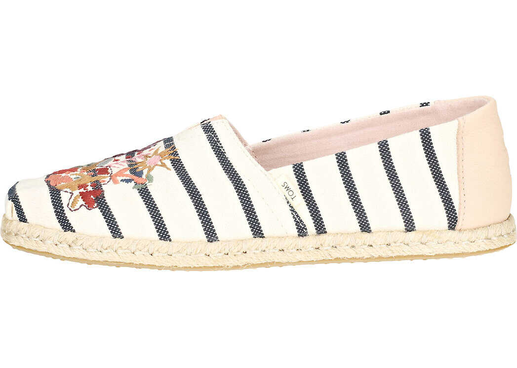 TOMS Classic Floral Embroidery Slip On In Multicolour Multi-Colour