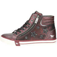 Ghete & Cizme Zip Sneaker High Bordeaux Chukka Boots In Burgundy Femei