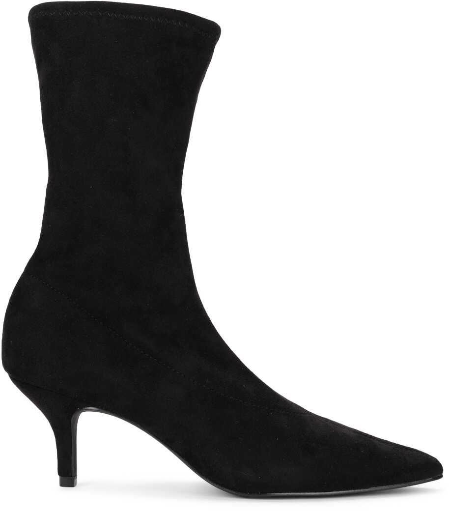Steve Madden Ramone Black Elastic Suede Ankle Boots Black