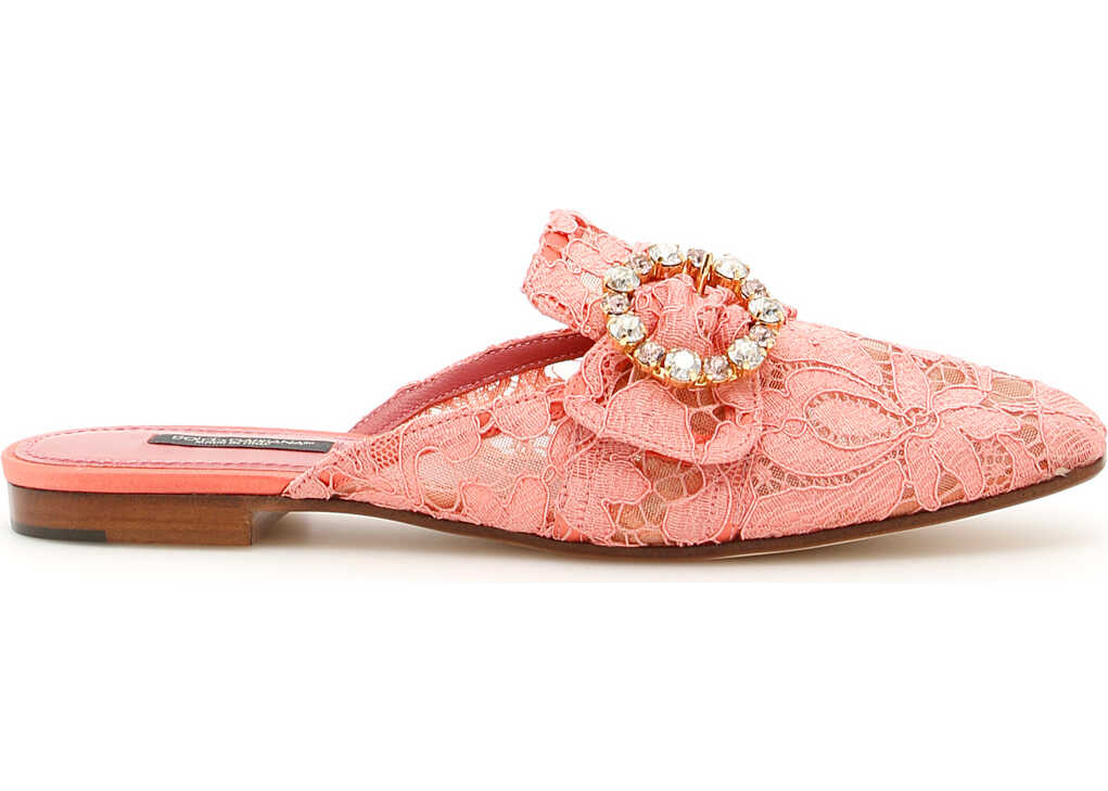 Dolce & Gabbana Lace Jackie Slippers PEONIA