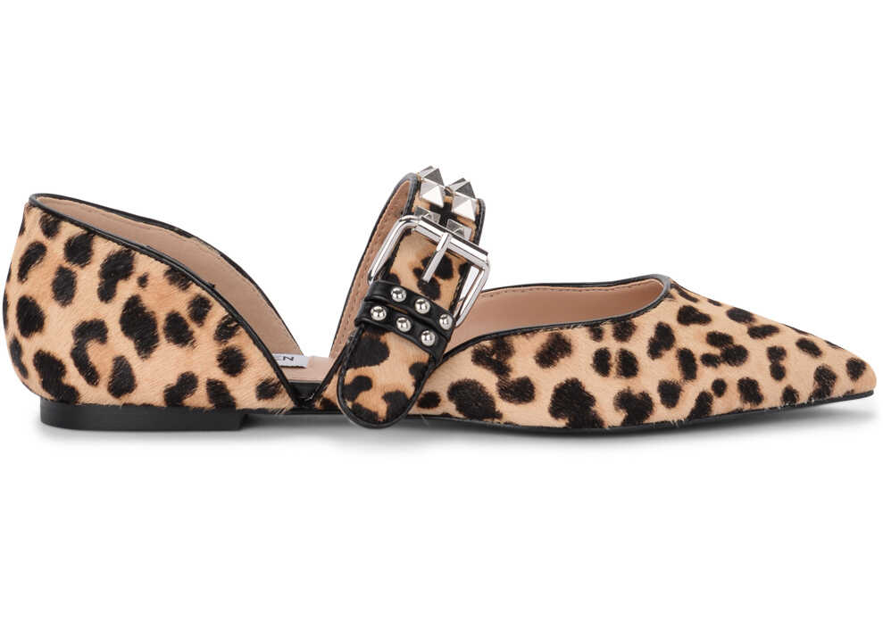 Steve Madden Pixel Spotted Cow Hair Flat Shoes N/A