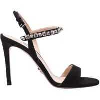 Sandale Black Sandals With Crystals Femei