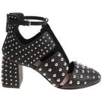 Incaltaminte RED VALENTINO Black Shoes With Cut-Out And Studs