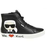 Tenisi & Adidasi Karl Lagerfeld Skool Black Leather Sneakers
