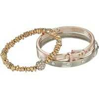 Bratari Three-Piece Bracelet Set - Two Hinge Bangles and One Stretch Femei