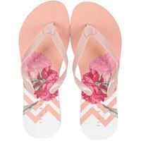 Slapi Beaulup Flip Flops In Pink Multicolour* Femei