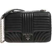 Genti de Mana Quilted Black Leather Shoulder Bag Femei