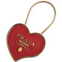 Breloc Chei Red And Gold Heart Keychain Femei