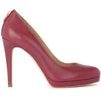 Pantofi cu Toc Antoinette Red Leather Dècolletè Femei