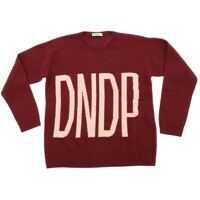 Pulovere Burgundy Pullover With Pink Logo Fete