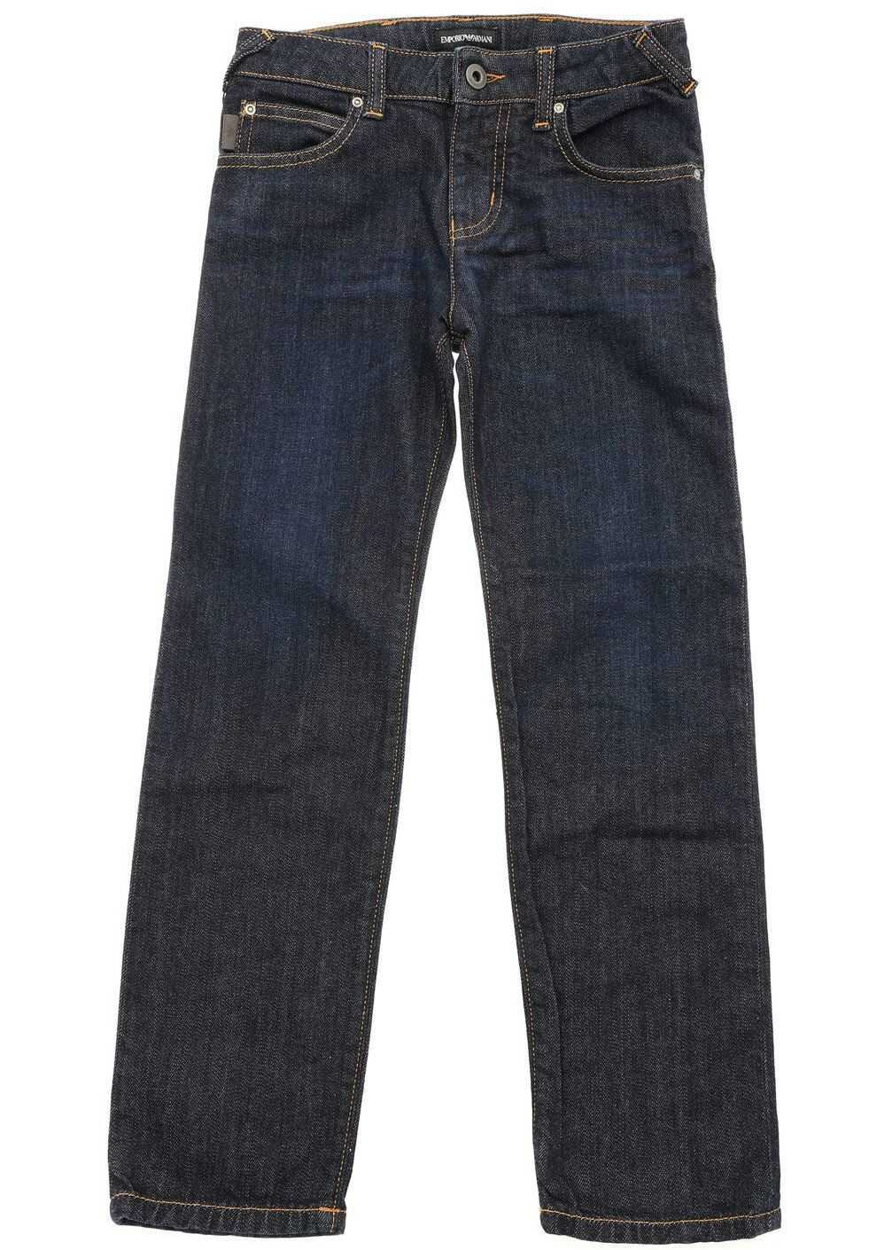 Dark Blue 5 Pocket Jeans