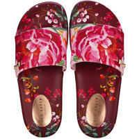 Slapi Qarla Slide In Red Floral* Femei