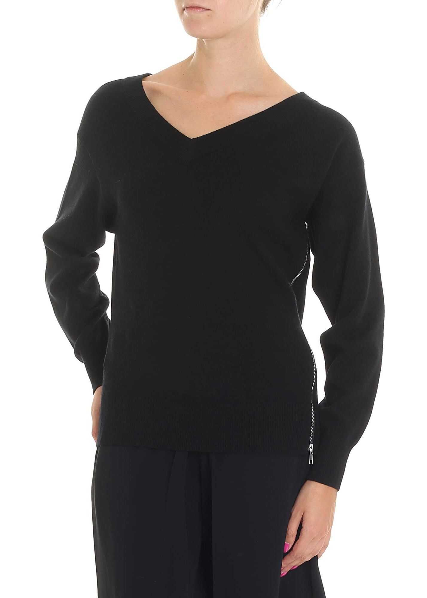 Alexander Wang Black Pullover With Silver Zip Black