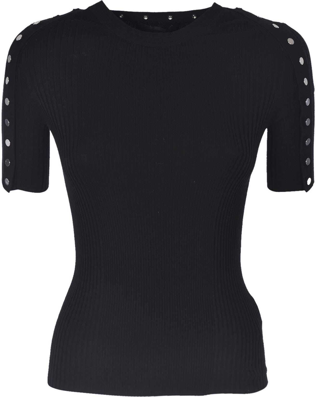 Black T-Shirt With Buttons