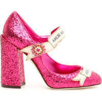Pantofi cu toc Glitter Mary Jane Pumps Femei