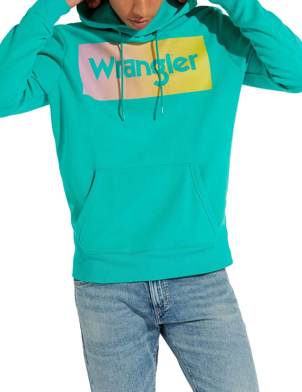 Wrangler Men's Bright Green Hoodie Spectra Green