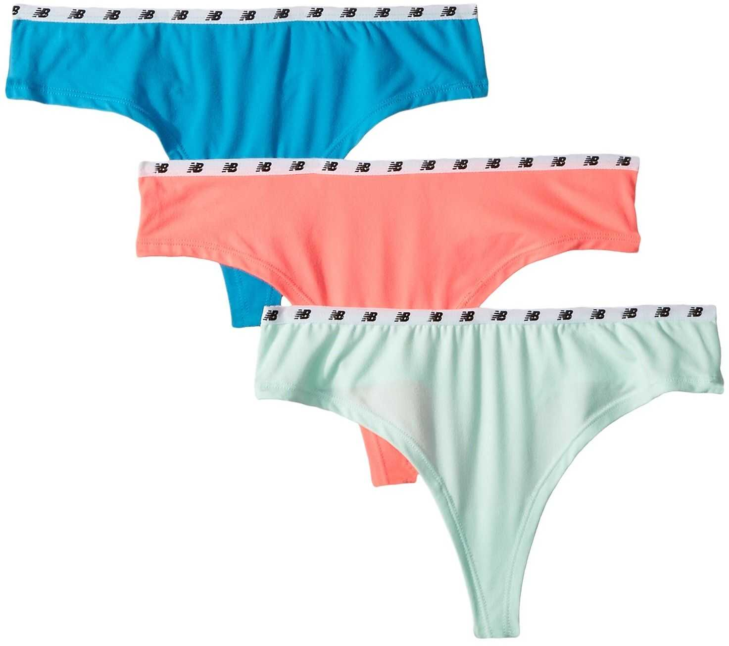 New Balance NB Everyday Collection Thong 3-Pack Guava/Seafoam/Maldives Blue