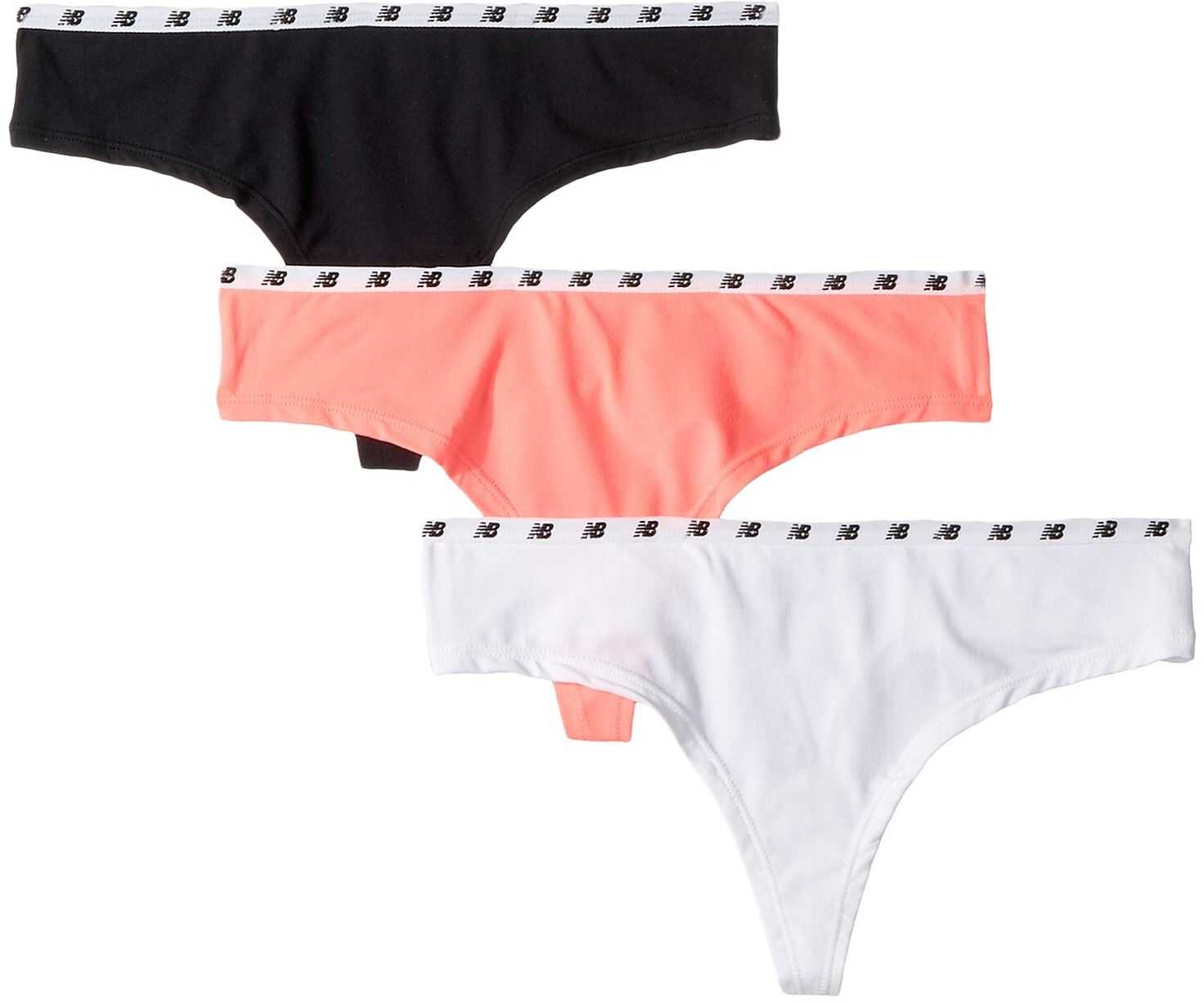 New Balance NB Everyday Collection Thong 3-Pack White/Guava/Black