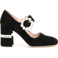 Pantofi cu Toc Mary Janes With Crystals Femei