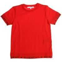 Tricouri Red T-Shirt With Branded Edges* Baieti