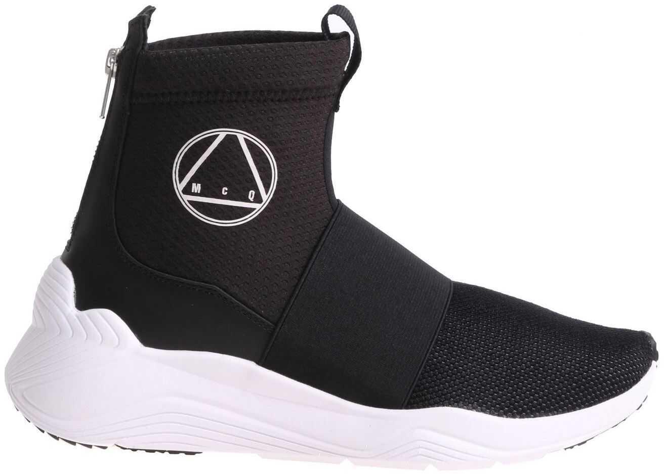 MCQ Alexander McQueen Black Hikaru Sneakers With White Logo Print Black