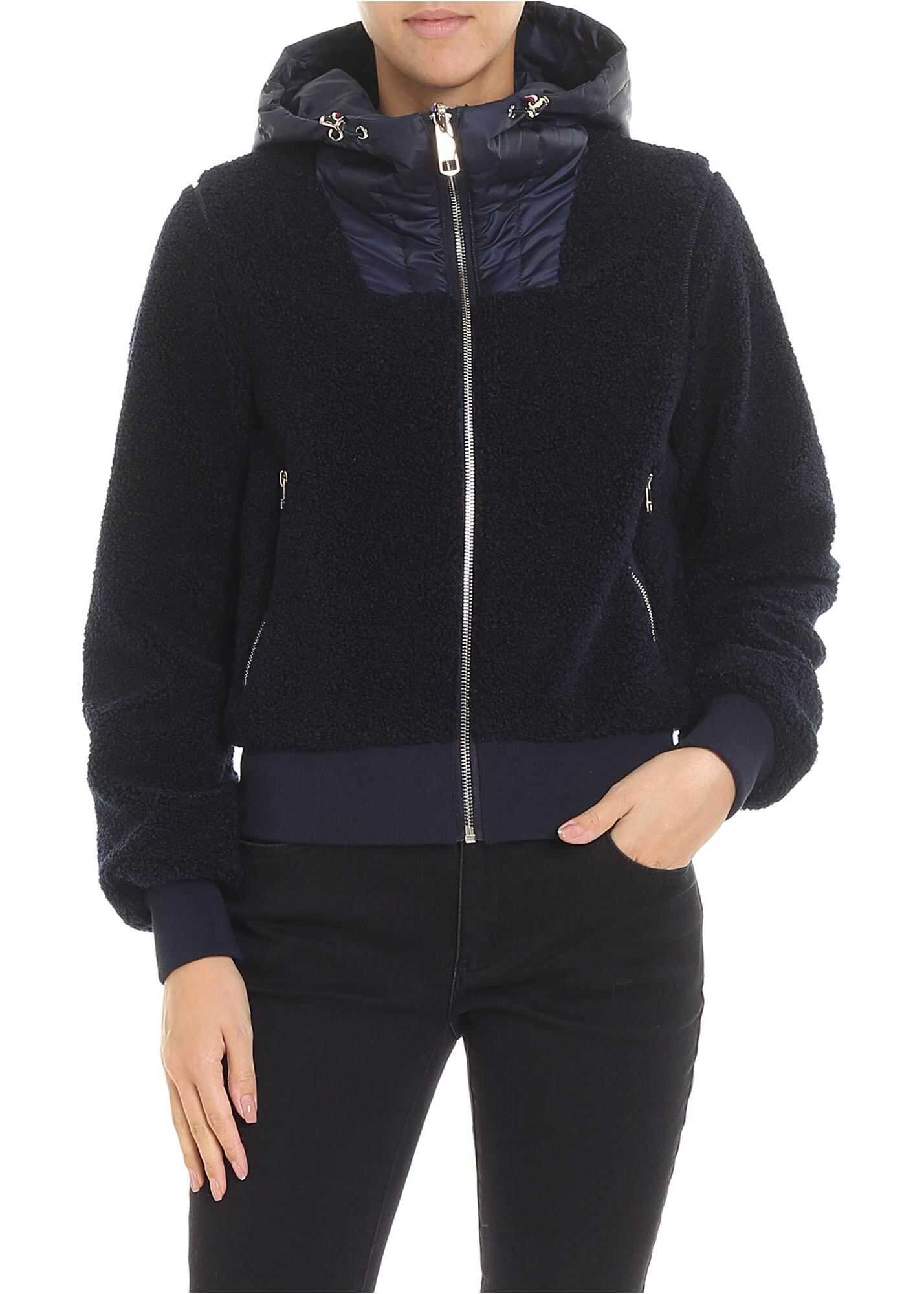 Tommy Hilfiger Annabel Padded Reversible Blue Jacket Blue