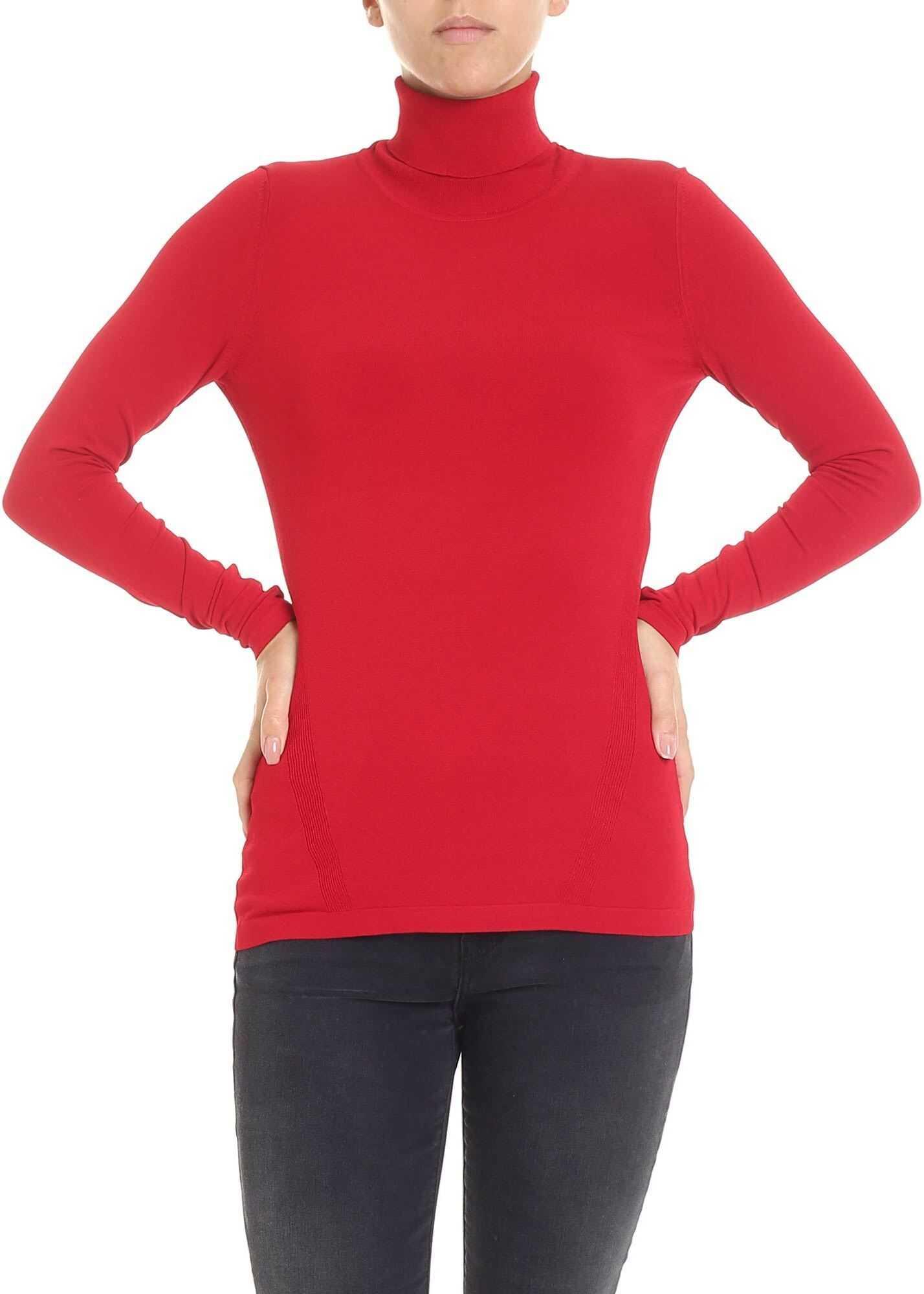 Diane von Furstenberg Jelena Two Red Turtleneck Red