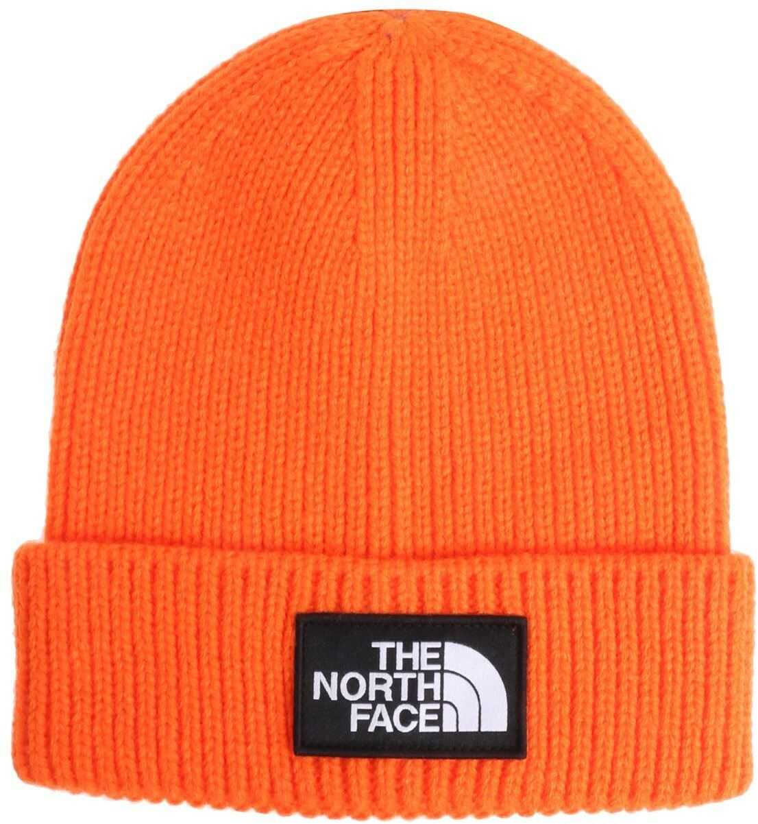 The North Face Orange Beanie With Logo Orange