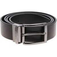Curele Black Leather Belt With Logo Barbati