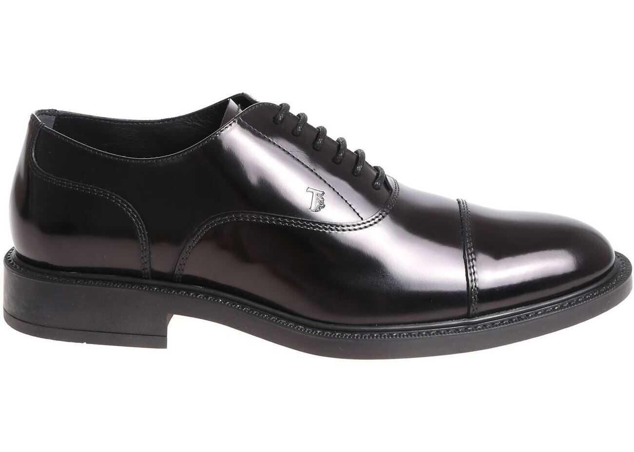 TOD'S Black Leather Oxford Shoes XXM45A00N50AKTB999 Black imagine b-mall.ro