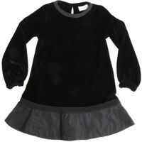 Rochii casual Black Velvet Dress Fete