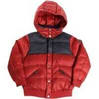 Geci de Puf Burgundy And Blue Quilted Dow Jacket Baieti