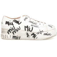 Tenisi & Adidasi Miu Miu Logo Crackled Sneakers