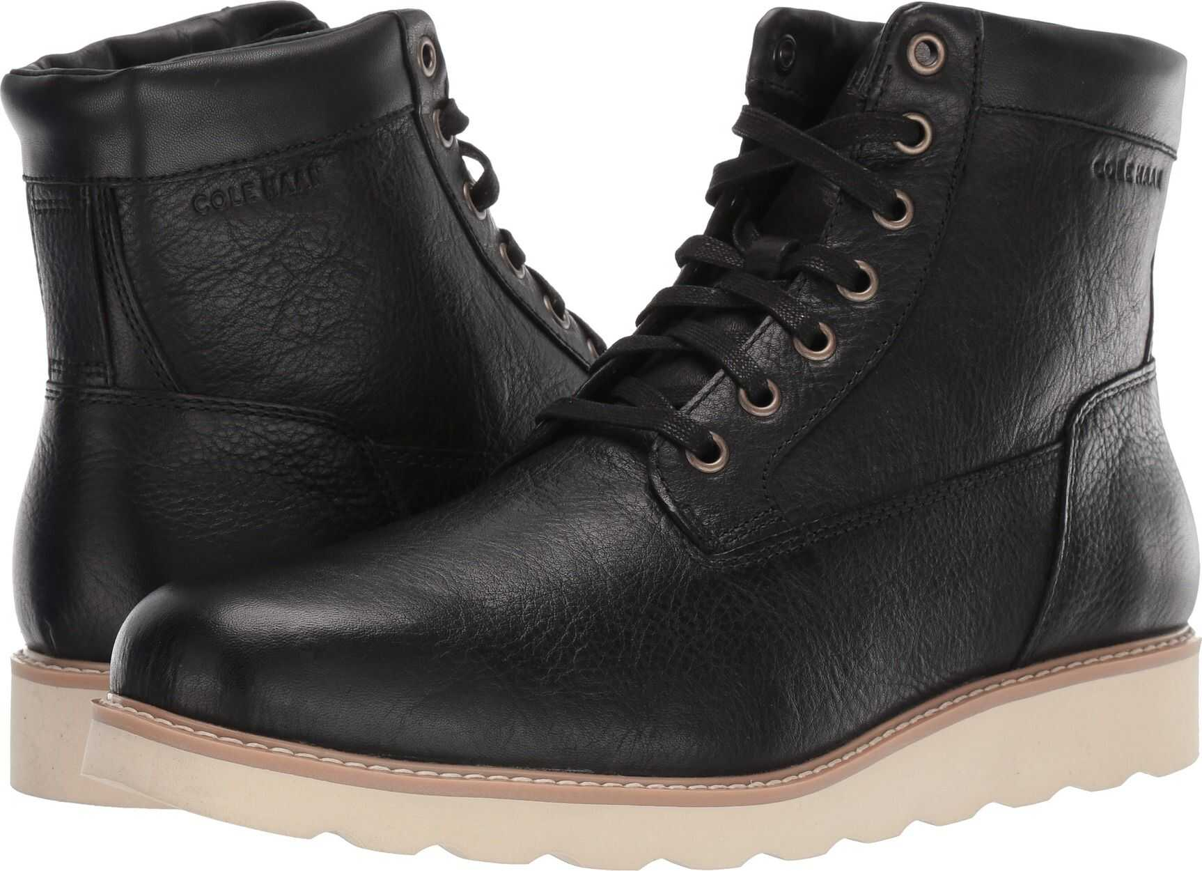 Cole Haan Nantucket Rugged Plain Boot Black 1
