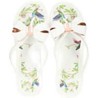 Slapi Susziep Flip Flops In White Multicolour* Femei
