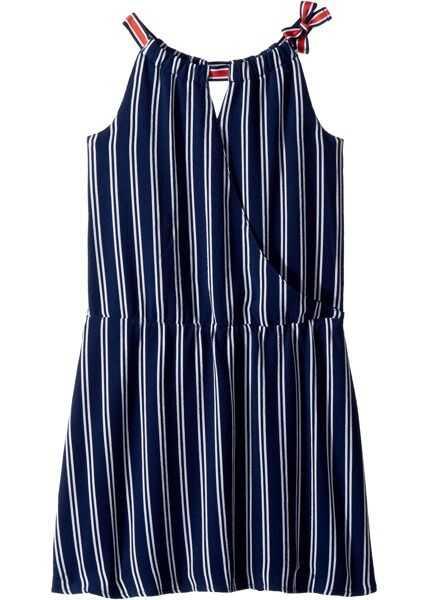 Rochii Fete Tommy Hilfiger Kids Wrap Drop Waist Dress (Big Kids)*