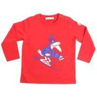 Tricouri Red T-Shirt With Blue And White Rubber Print Baieti