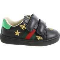 Sneakers Black Sneakers With Golden Embroideries Fete