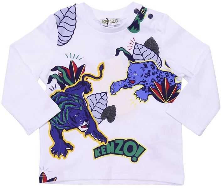 "Tricouri Baieti Kenzo ""ewen"" White T-Shirt"