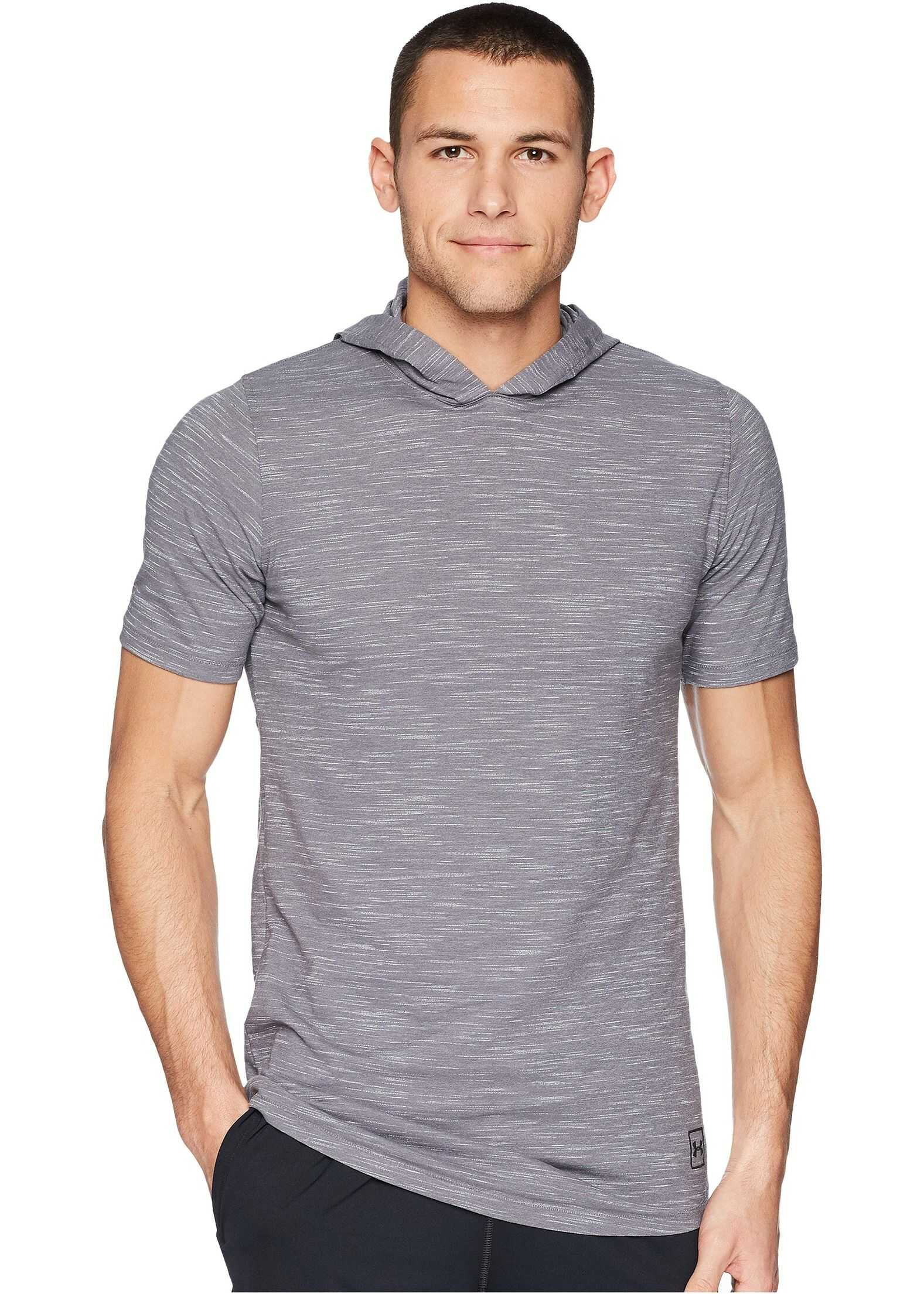 Under Armour Sportstyle Core Short Sleeve Hoodie Graphite/Black