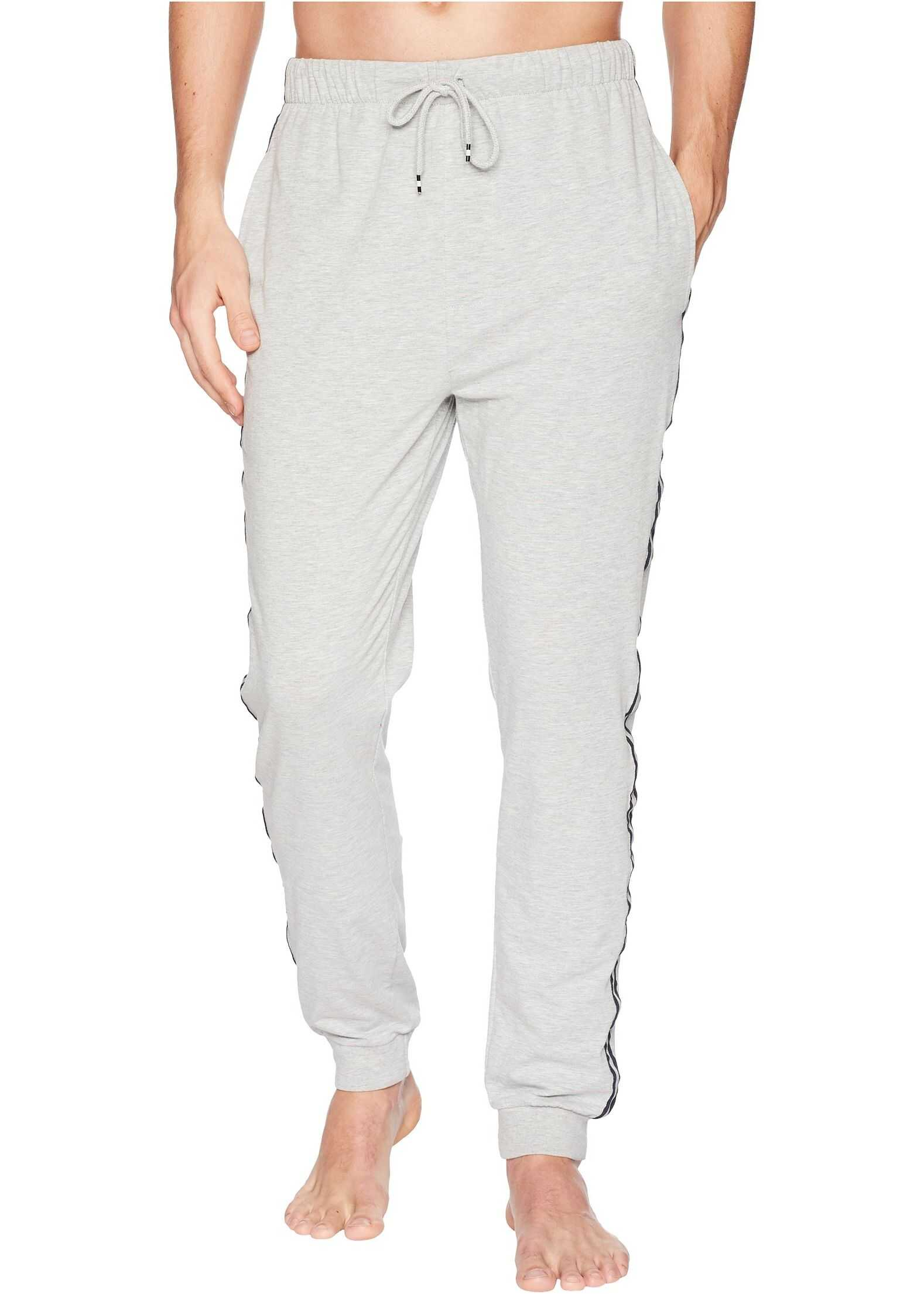 Kenneth Cole Reaction Jogger Pants with Side Tape Light Grey Heather